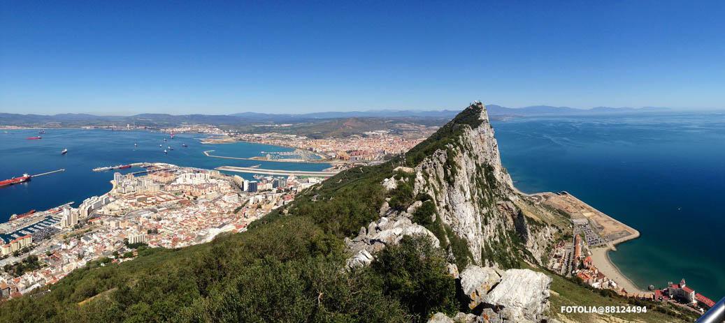 Panorama sullo Stretto di Gibilterra