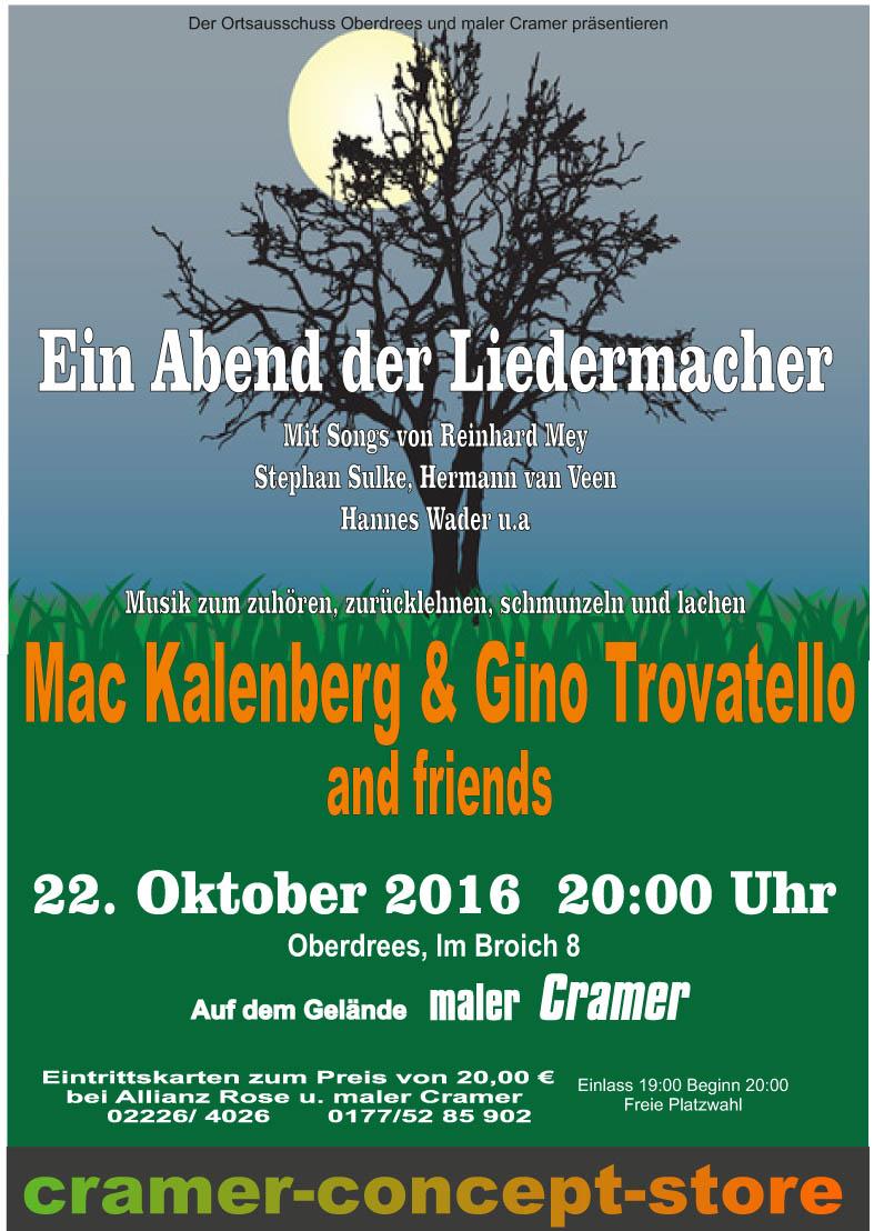 Liedermacher Plakat